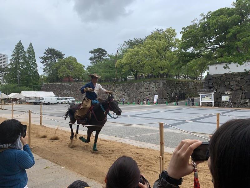 目の前を馬が走ります。迫力抜群!!