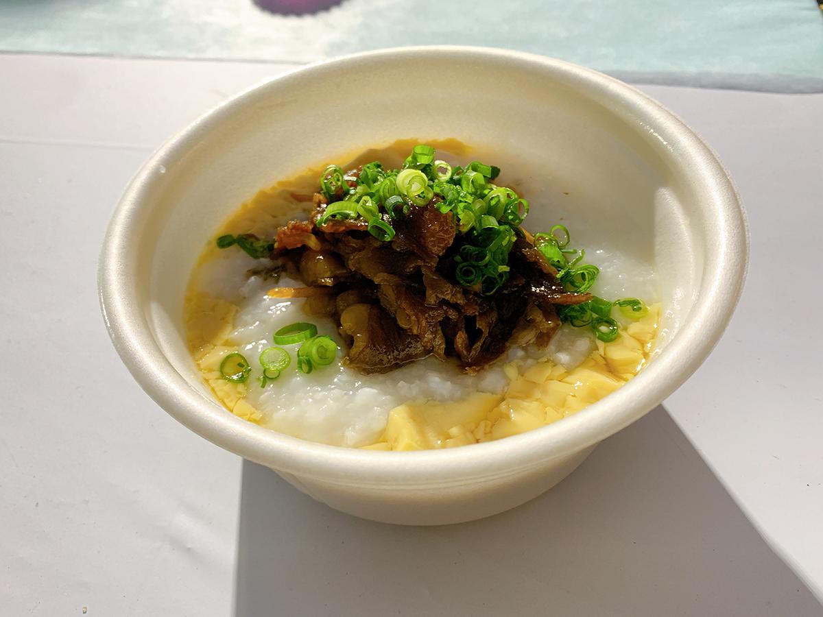 小倉炊き肉 一富士/宮崎牛のしぐれ煮のせ おかゆ卵蒸し