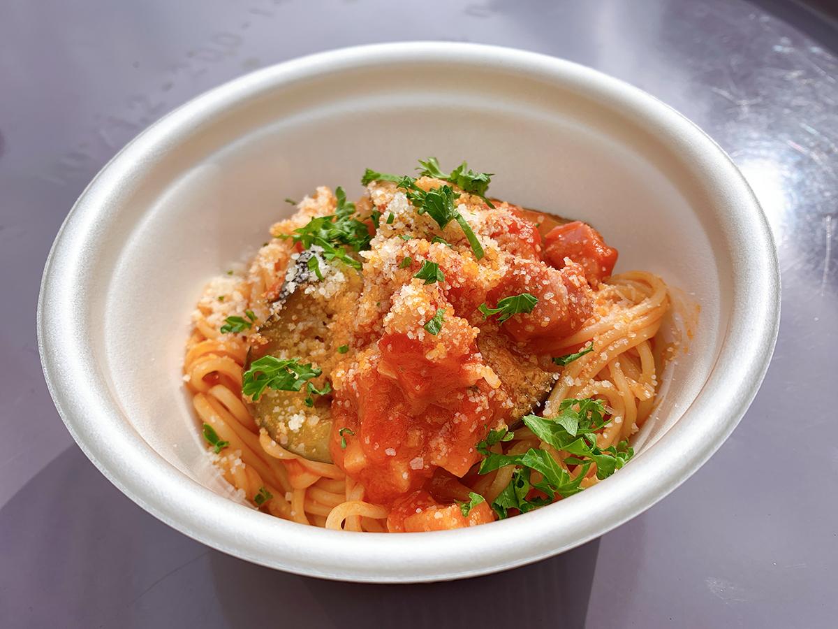 おいしいを描く食のアトリエ BlueOcean/ヤギシタハム特製ベーコンと八幡産ナスのトマトパスタ