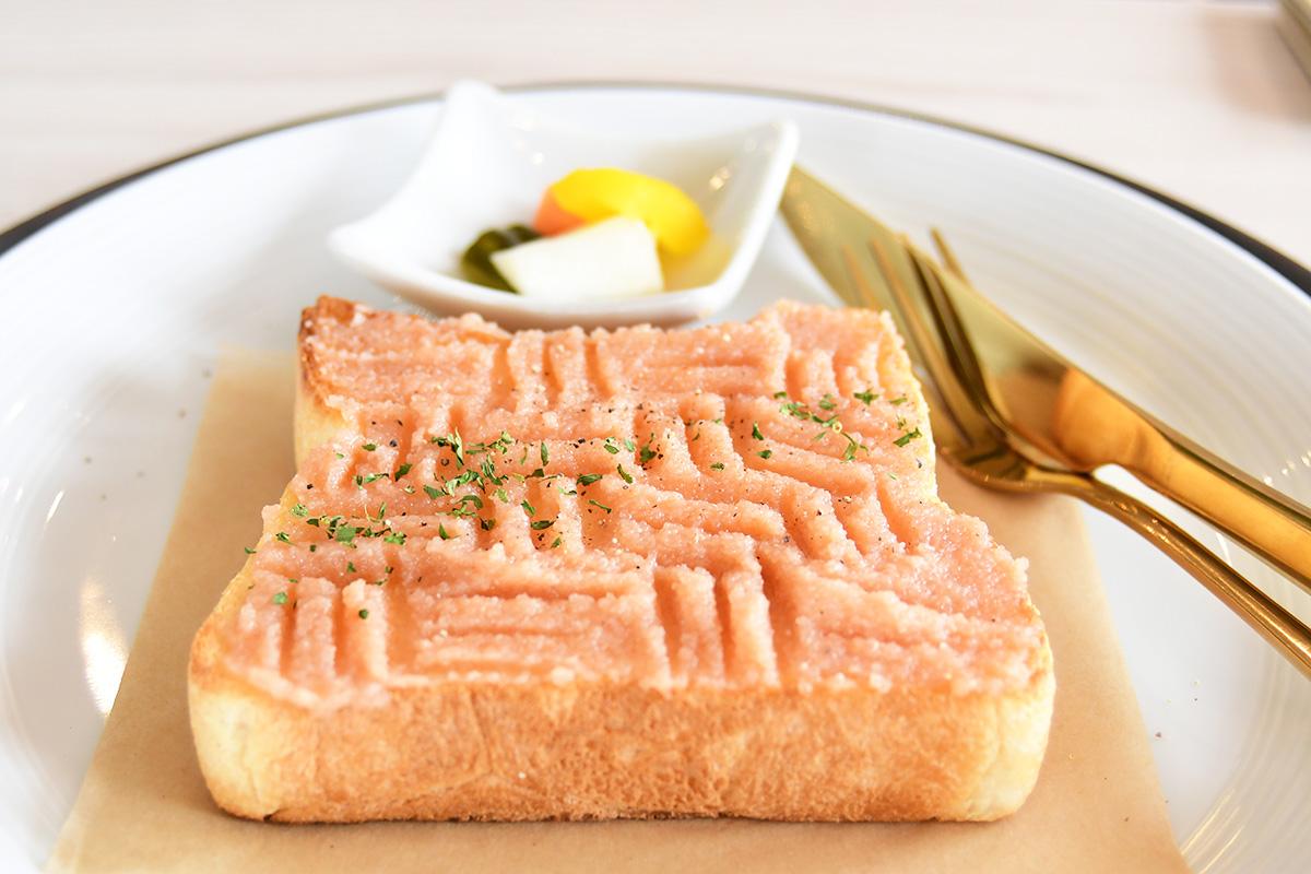 明太子のトースト